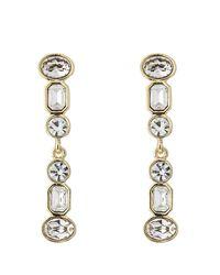 Kenneth Jay Lane - Metallic Jeweled Drop Earrings - Lyst