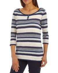Betty Barclay White Striped Top