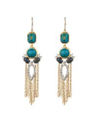 Alexis Bittar - Blue Gold Muse D'or Fringe Earring You Might Also Like - Lyst