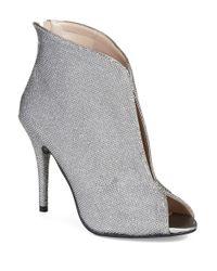 Caparros | Metallic Pavlova Peep Toe Booties | Lyst