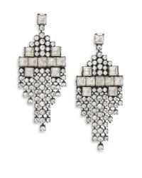 DANNIJO - Metallic Klein Crystal Kite Fringe Earrings - Lyst