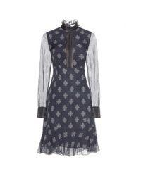 Erdem - Blue Short Dress - Lyst