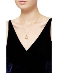 Loquet London | Metallic 14k Yellow Gold Moon, Star, And Dove Christmas Locket | Lyst