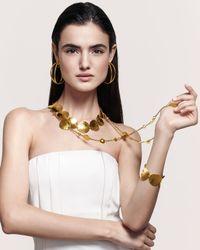 Jose & Maria Barrera - Metallic Gold-plated Hammered Disc Bracelet - Lyst