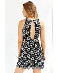 Kimchi Blue - Black Two-tone Lace Skater Dress - Lyst
