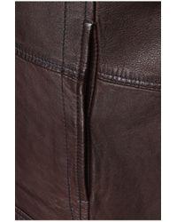 BOSS Orange Brown Sheepskin Leather Jacket 'jelon' for men