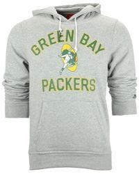 Nike Gray Green Bay Packers Club Rewind Hoodie for men