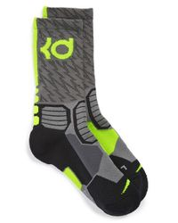 Nike | Gray 'hyper Elite' Cushioned Crew Socks | Lyst