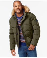 Tommy Hilfiger Gray Short Snorkel Coat, Created For Macy's for men
