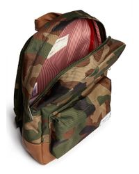Herschel Supply Co. - Green 'Heritage' Camouflage Kids Backpack for Men - Lyst