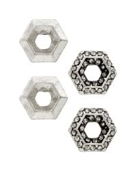 Banana Republic   Metallic Hexagon Stud Earring Set   Lyst