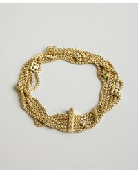 David Yurman | Metallic Gold and Diamond Quatrefoil Multi Strand Bracelet | Lyst