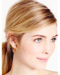 kate spade new york Metallic Kate Spade Round Leverback Earrings