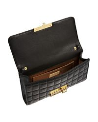 Michael Kors Black Gia Quilted Leather Clutch