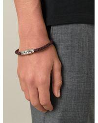 Ferragamo | Brown Woven Bracelet for Men | Lyst