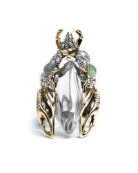 Alexis Bittar | Metallic Jardin Mystã¨Re Scarab Beetle Ring | Lyst