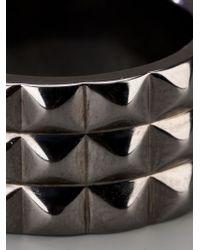 Stephen Webster Metallic Rhodium Silver Stud Ring for men