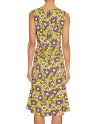 Marni | Yellow Asticon-Print Crepe Dress | Lyst