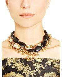 Oscar de la Renta | Black Diamond Crystal Baguette Necklace | Lyst