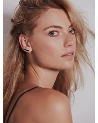 Adina Reyter - Metallic Pave Diamond Wing Earring - Lyst
