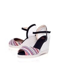Castaner | Multicolor Ava H8 High Wedge Heel Sandals | Lyst