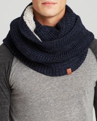 Bickley + Mitchell Blue Bickley + Mitchell Waffle Knit Infinity Scarf for men