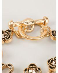 Oscar de la Renta | Metallic Ring Bracelet | Lyst