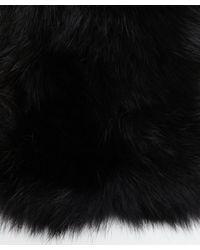 Adrienne Landau | Black Knitted Fox & Rabbit Fur Cowl Collar | Lyst