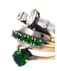 Iosselliani - Green 'all That Jewels' Ring - Lyst