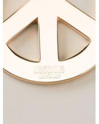 Moschino - Metallic Peace Pendant Necklace - Lyst