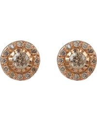 Ileana Makri | Metallic Diamond & White Gold Stud Earrings | Lyst