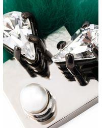 Fendi | Green Crystal Bugs Brooch | Lyst