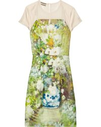 By Malene Birger Green Floral print Silk twill Dress
