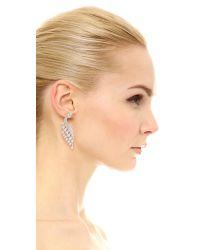 Kenneth Jay Lane - White Pear Wing & Stud Earrings - Lyst