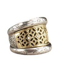 Konstantino | Metallic Lattice Diamond Ring | Lyst