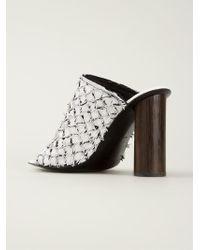 Proenza Schouler - White Woven Mule Sandals - Lyst