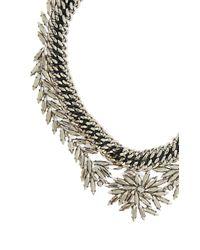 BCBGMAXAZRIA - Metallic Woven Leaf Necklace - Lyst