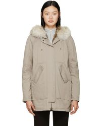 Army by Yves Salomon Natural Taupe Fur-lined Parka