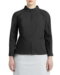 Lafayette 148 New York | Black Marty Two-zip-front Jacket | Lyst