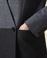 Jaeger - Blue Wool Colour Block Coat - Lyst