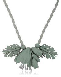 EK Thongprasert Gray Flowers Silicone Necklace