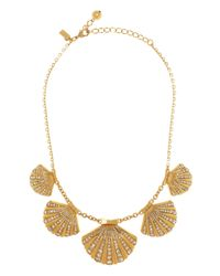 kate spade new york | Metallic Shore Thing Clam Collar Necklace | Lyst