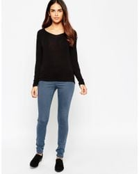 ASOS | Black Petite Forever Long Sleeve Top | Lyst