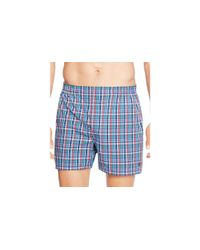 Polo Ralph Lauren | Blue Woven Boxers, Pack Of 3 for Men | Lyst