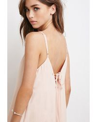 Forever 21 - Pink Lace-up Back Maxi Dress - Lyst