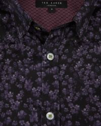 Ted Baker - Purple Painted Floral Print Shirt for Men - Lyst