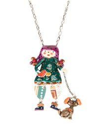 !item - Multicolor Doll Pendant Necklace - Lyst
