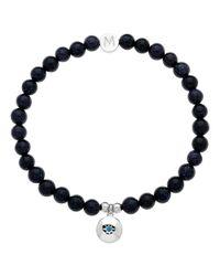 Melissa Odabash | Blue Rhodium & Sapphire Virgo Bracelet | Lyst