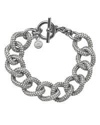 Michael Kors | Metallic Pave Curb Link Toggle Bracelet | Lyst