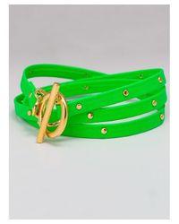 Gorjana - Graham Leather Wrap Bracelet In Neon Green - Lyst